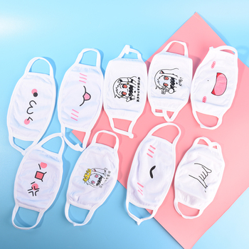 1Pc Face Mask Chic Anti Dust Mask Emotiction Masque Kpop Masks Kpop Cotton Cute Anime Cartoon Mouth Muffle Mouth Mask