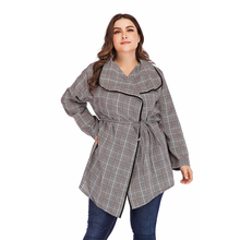 Maternity Coat Ladies Shirt 2019 Spring New Hot Big Size Plaid Striped Cardigan Long Sleeve Lapel Cotton Clothing