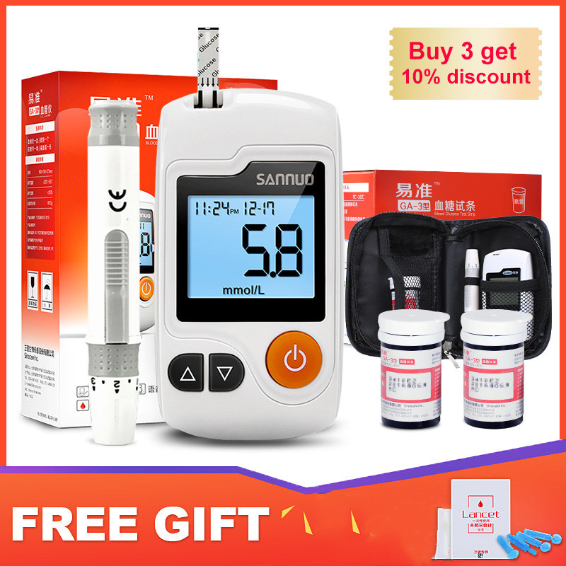 Cofoe GA-3  Blood Glucose Meter & Test Strips & Lancets Needles Diabetes Glucometer Blood Sugar  Monitor For Diabetic