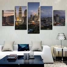 5 шт настенные картины в современном стиле с изображением городского