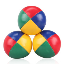 5.5 cm Kids Juggling Ball From beginners to professionals can   [Pack of 3] PU leather soft juggling bean bag Kit  Easi