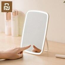 Настольное светодиодное зеркало для макияжа Xiaomi, сенсорное управление, светодиодный естественный свет, заполняющий регулируемый угол, длительный срок службы батареи