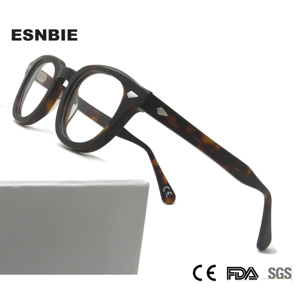 Men'S Vintage Round Optical Frame Brand Design Korea Eyeglasses For Men Women Acetate Eyewears Small Medium Gafas Miopia Hombre