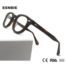 MenS Vintage Round Optical Frame Brand Design Korea Eyeglasses For Men Women Acetate Eyewears Small Medium Gafas Miopia Hombre