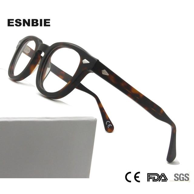 MenS Vintage עגול מסגרת אופטית מותג עיצוב קוריאה משקפיים לגברים נשים אצטט Eyewears קטן בינוני Gafas Miopia Hombre