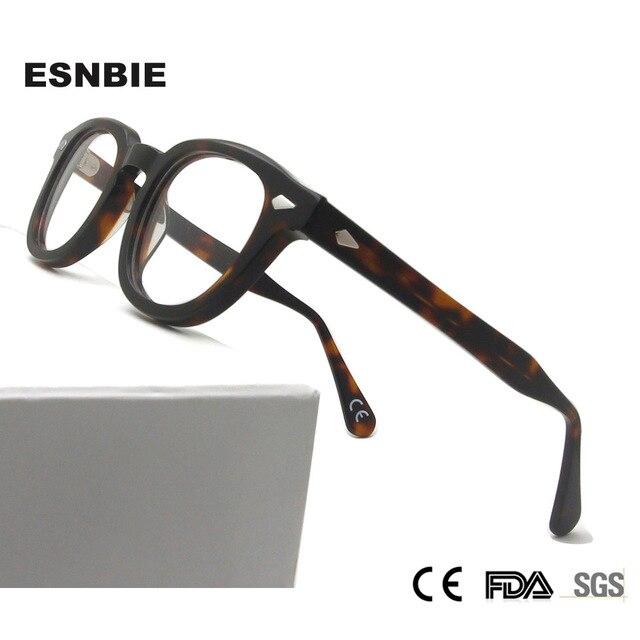 Men S خمر جولة البصرية إطار العلامة التجارية تصميم كوريا النظارات للرجال النساء خلات ييويرس صغير متوسط Gafas Miopia هومبر