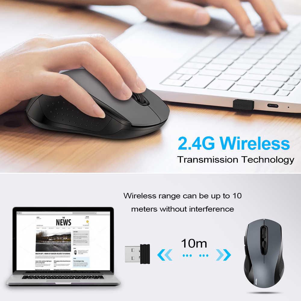 TeckNet 2.0 USB ماوس كمبيوتر لاسلكي مع 2.4G استقبال لاسلكي الفئران 2000 ديسيبل متوحد الخواص 10 متر سوبر ماوس لجهاز الكمبيوتر اللاسلكي الكمبيوتر المحمول