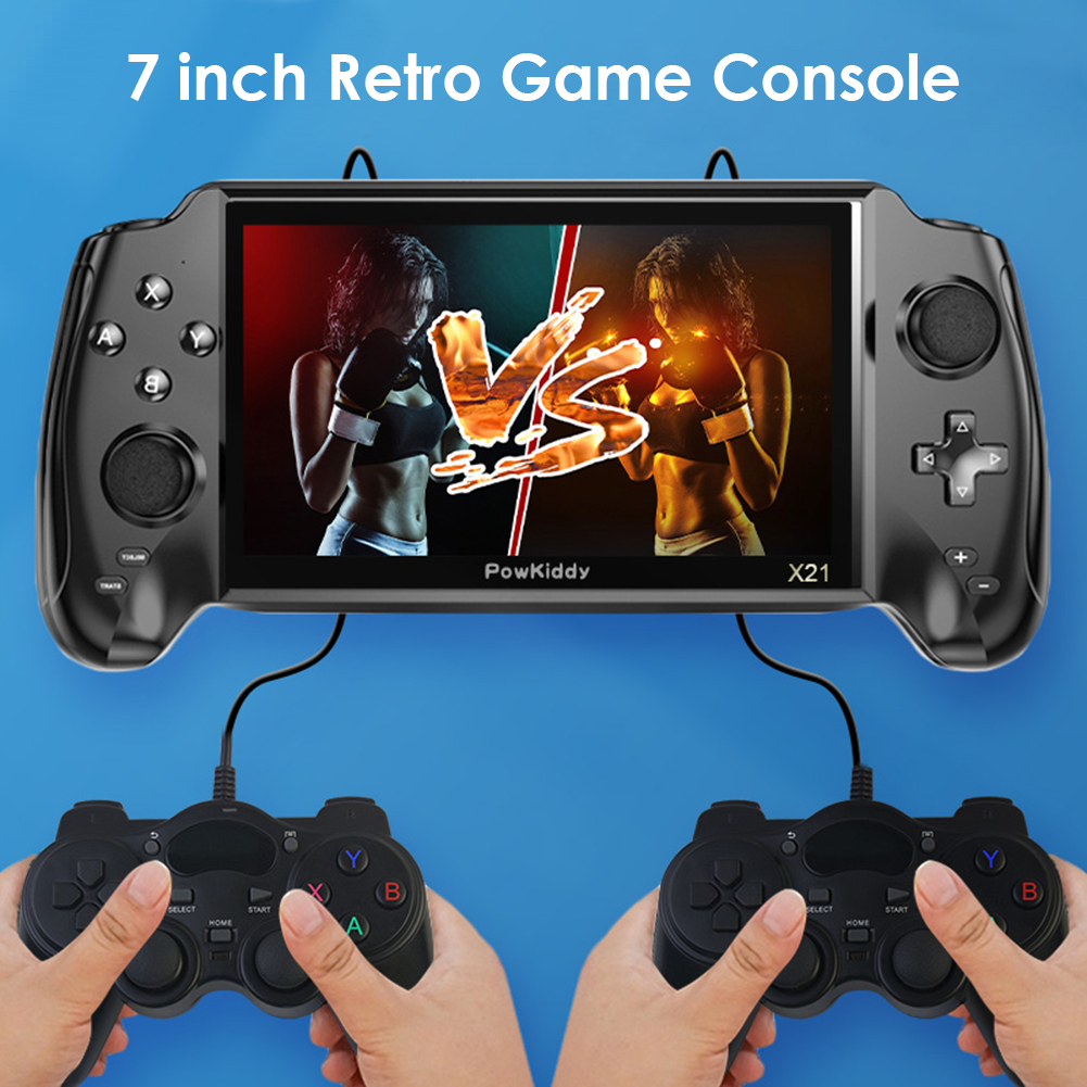 POWKIDDY X21 7 inch Handheld Game Console Built-in 3000 Video Games Player Linux Retro Classic Dual-Shake Consolas