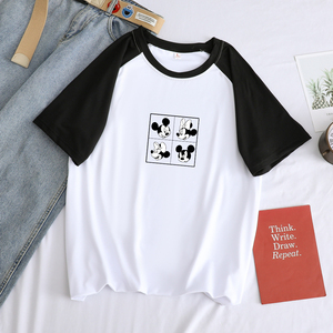 Мужская футболка с круглым вырезом, модная Толстовка в стиле хип-хоп, каваи, Микки Маус