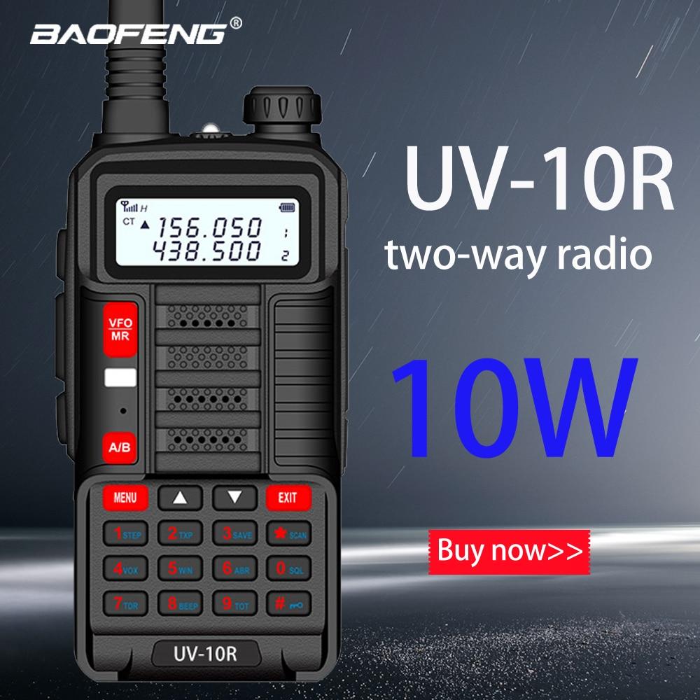 Baofeng Новая Профессиональная рация UV 10R 10 км 128 каналов VHF UHF Двухдиапазонная CB Ham Радио Baofeng UV-10R