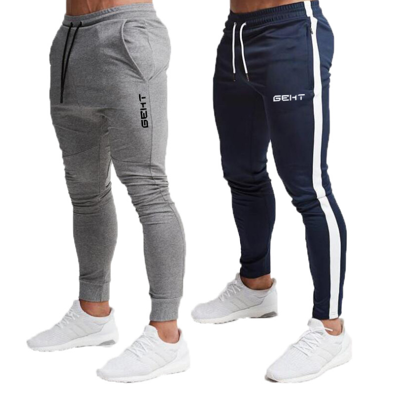 2019 Summer New Fashion Thin section Pants Men Casual Trouser Jogger Bodybuilding Fitness Sweat Time limited Sweatpants 1