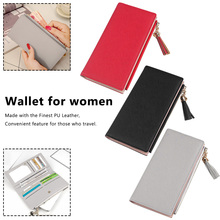 2019 Wallet Female For Coins Cute Women Long Leather Wallets Zipper Purses Portefeuille Purse Clutch