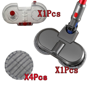 Electric Mopping Vacuum Brush and Water Tank for Dyson V7 V8 V10 V11 Replacement Parts with 4 Cleaning Cloth
