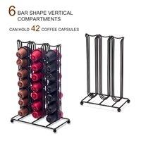 42 copos para cápsulas de café nespresso rotativa rack de café cápsula suporte organização titular cápsulas prateleira de armazenamento|Conjuntos de café| |  -