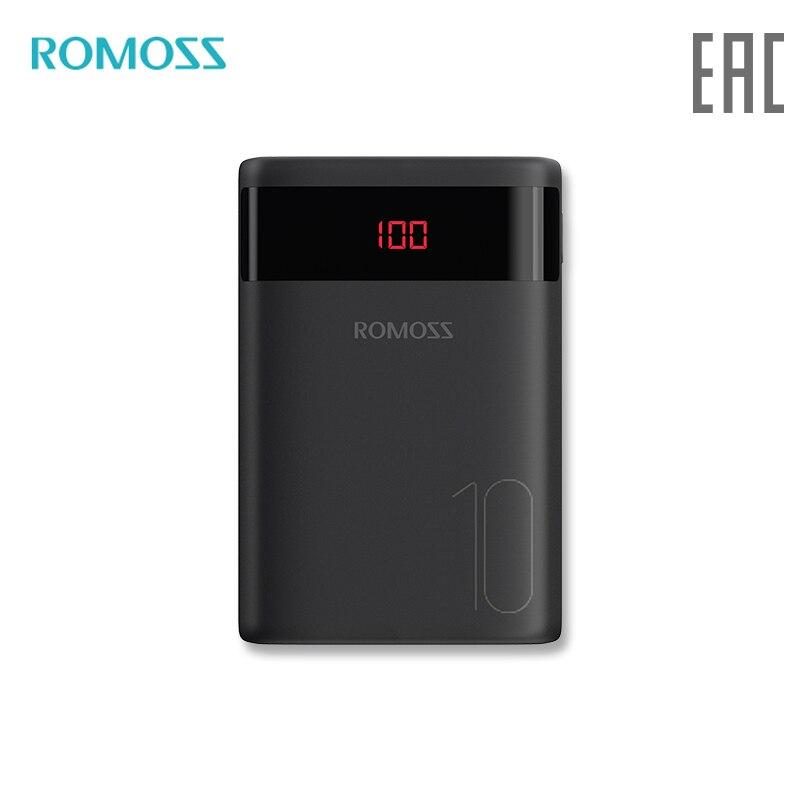 Внешний аккумулятор Romoss Mini Ares 10 10000 мАч с показанием уровня заряда повербанк с индикатором [ доставка из России]