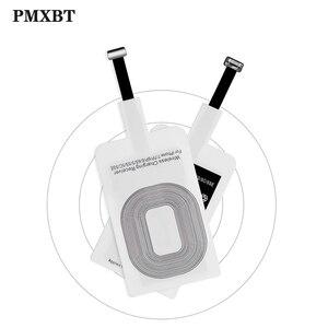 Image 1 - ユニバーサルチーワイヤレス充電アダプタレシーバーパッドコイルiphone 6 6sプラスxiaomi huawei社タイプcマイクロusbワイヤレス充電器