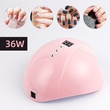 Nail Dryer LED UV Lamp 36W For All Gels 12 LEDs UV Lamp for All Gel Polish Drying Nail Drill Machine Curing 30s 60s 99s Timer cheap foreverlily 0 18kg 100 - 240V 19 00*16 00*9 00 UV Lamps A-HWJ200414 electric Other 12Pcs LED Nail Lamp Nail Art Equipments