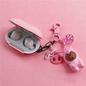 Image 3 - חמוד דוב הסיליקון כיסוי לסמסונג גלקסי ניצני 2019 מקרה Bluetooth אוזניות טעינת תיבת כיסוי אלחוטי אוזניות עור דקור