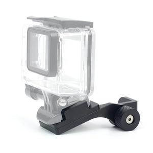 Image 4 - BGNing accessoires de moto rétroviseur support de montage pince barre support de caméra pour GoPro Max Xiaoyi SJCAM caméra daction