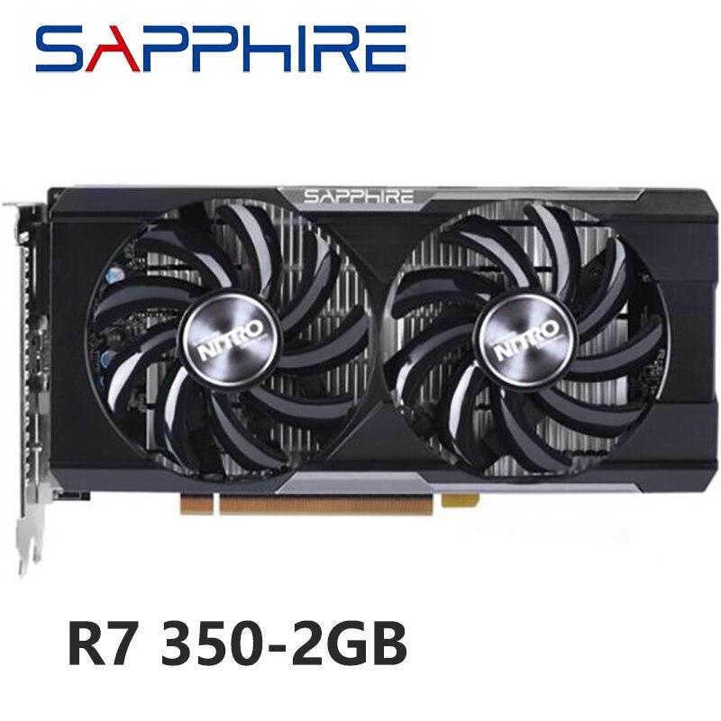 Оригинальные видеокарты SAPPHIRE R7 350 2 ГБ для AMD GPU Radeon R7350 2 Гб, видеокарты для компьютера, игровые HDMI VGA