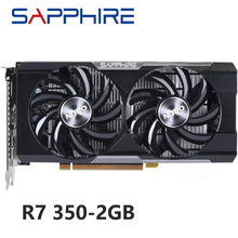 Safira original r7 350 2gb placas de vídeo para amd gpu radeon r7350 2gb placas gráficas computador pc gaming hdmi vga