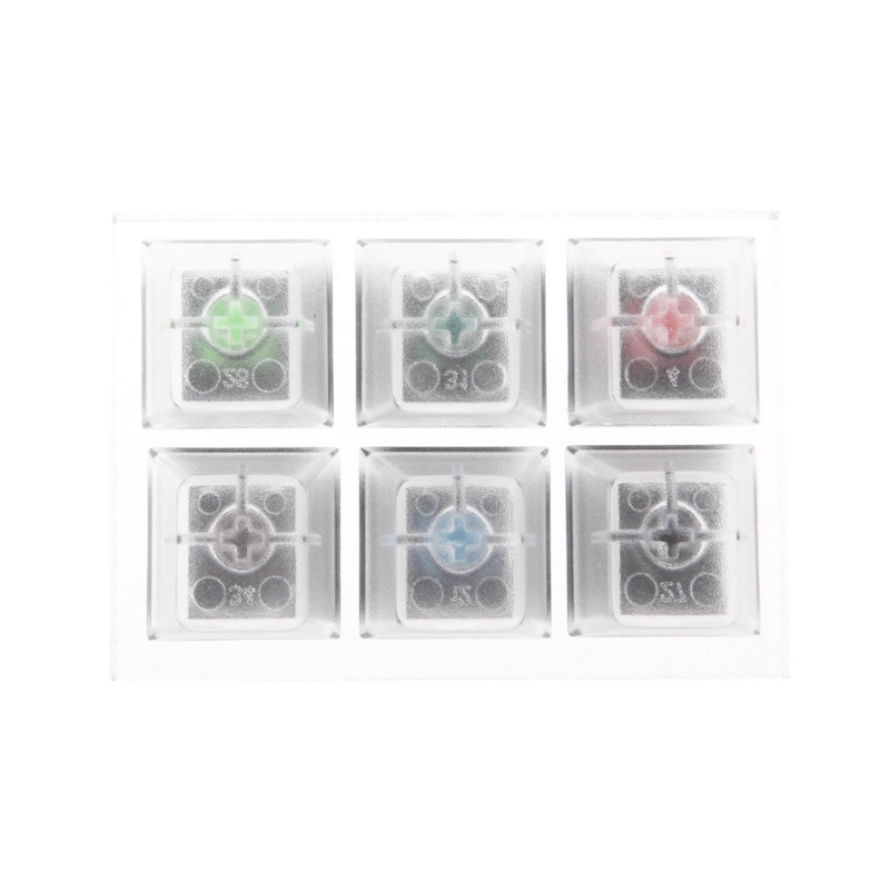 <font><b>Mechanical</b></font> <font><b>Keyboard</b></font> Clear Keycaps 6 Key Caps Swit6X <font><b>Tester</b></font> Kit For Cherry MX image