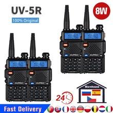 2/4 шт. оригинальная Baofeng UV 5R Walkie Talkie Real 8W UV5R Быстрая доставка из Испании и России один год гарантии