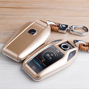 Image 2 - Чехол для ключей из углеродного волокна ABS, дистанционная Защита корпуса для ключей для BMW 6 7 серии 740 6 серии GT 5 530i X3, сумка для ключей, автомобильные аксессуары