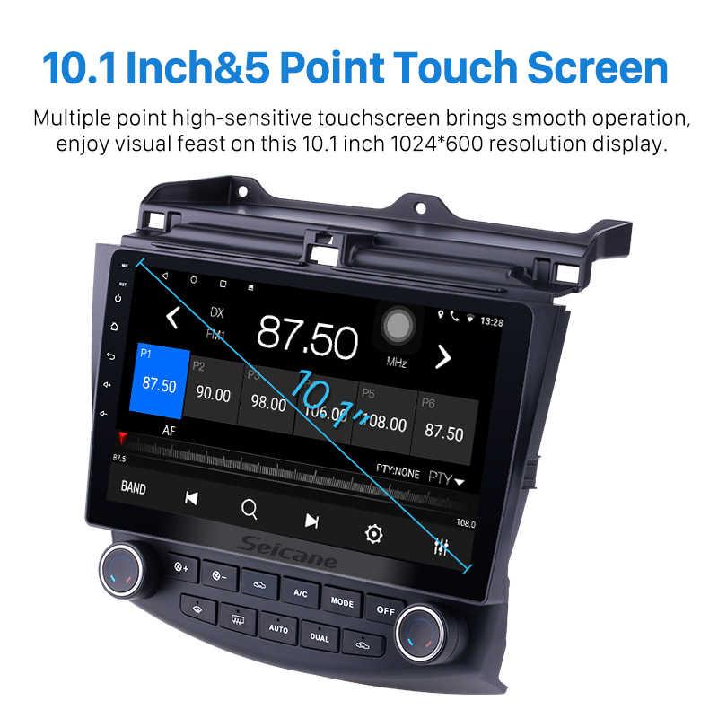 Seicane 10.1 Cal 2DIN z systemem Android 9.0 ekran dotykowy, Radio FM nawigacja GPS dla 2003 2004 2005-2007 Honda Accord 7 z Bluetooth