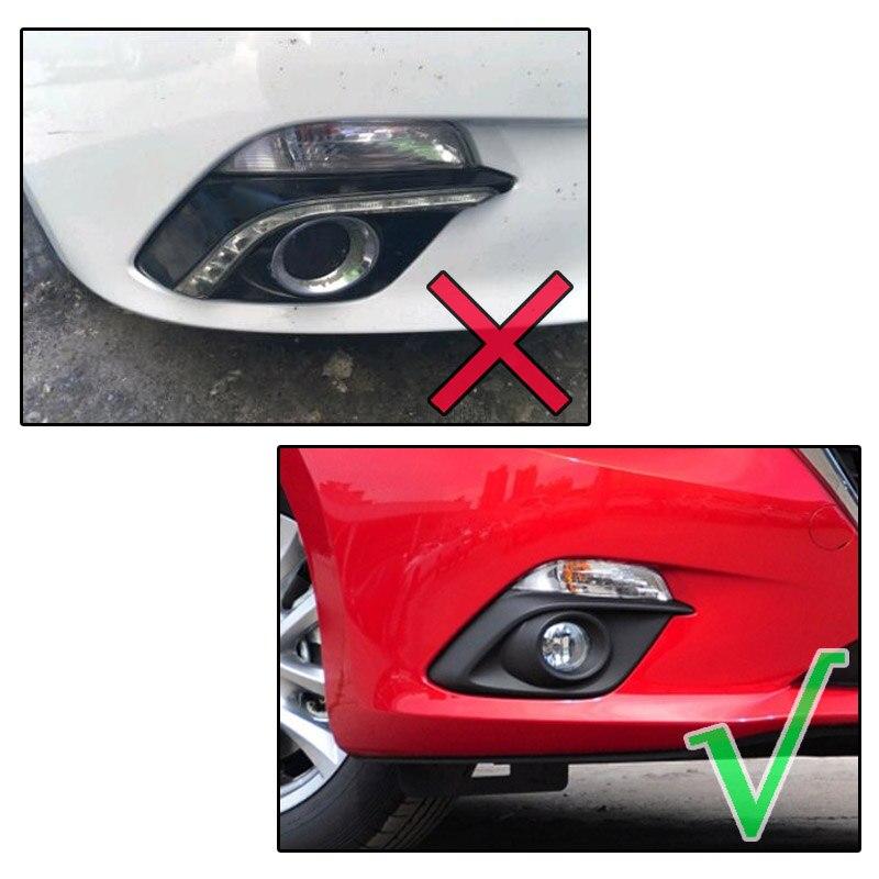 Chrome Front Fog Light Cover Trim Decor Strip For Mazda 3 Axela 2014 2015 2016