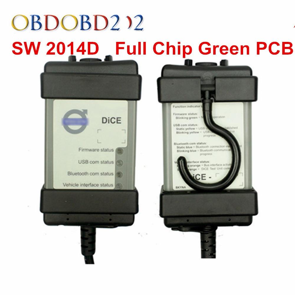 2020 полный чип Vida Dice диагностический инструмент SW 2014D Dice Pro OBD2 сканер для автомобилей Обновление прошивки самотестирование