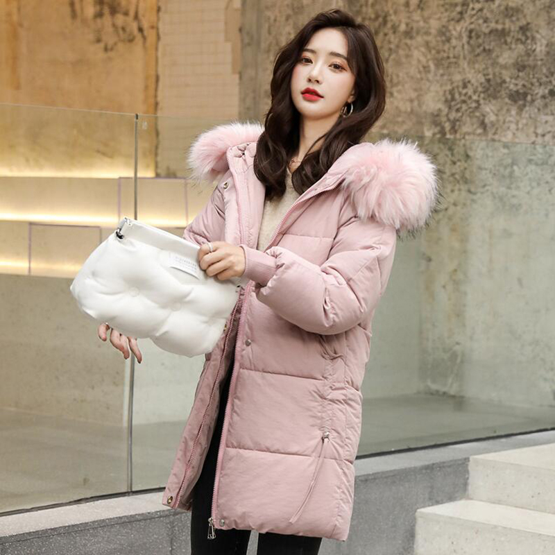 2019   Parka   Female Women Winter Coat Thickening Cotton Jacket   Parkas   for Women Winter Long Hooded Slim Warm Cotton Outwear