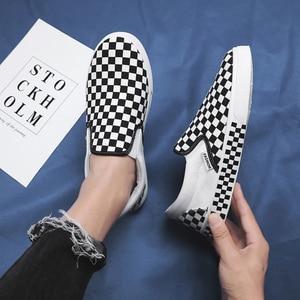 Image 3 - Новинка сезона весна осень 2019, модные парусиновые туфли без застежки, удобная обувь для вождения, Уличная Повседневная обувь