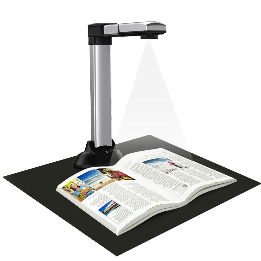 Eloam BS2000M Portable Book & Document Scanner, Auto Flatten, Split & Deskew, Convert Images to Word/Excel/PDF