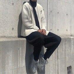Свободные прямые повседневные плиссированные брюки Miyake, популярные плиссированные брюки