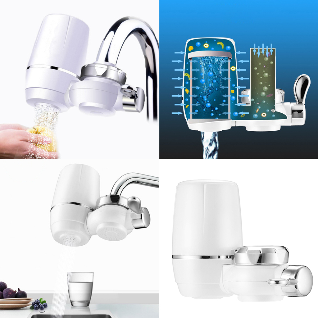 Tap Water Filter System Household Kitchen Faucet Water Filter 1L/min White