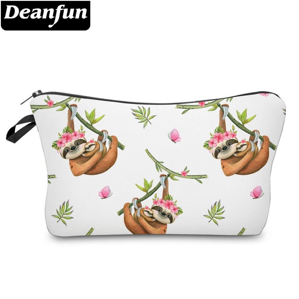 Deanfun Printing Sloth Cosmetic Bag Flowers Baby Gifts Makeup Bag Waterproof Organizer 52024