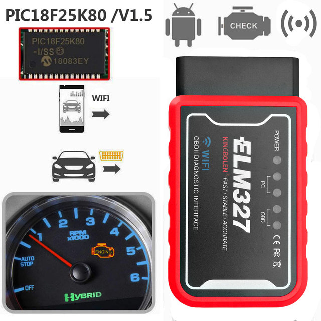 ELM327 OBDII Engine Check Code Reader For Jaguar XF XE X250 F-PACE F-TYPE S-Type X-Type Wifi /Bluetooth OBD2 Scanner Detector 2