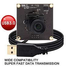 USB ELP 3.0 2MP SONY IMX291 50fps ความเร็วสูงกล้องโมดูล USB 3.0 อุตสาหกรรมไม่มีการบิดเบือนเลนส์วิดีโอจัดการประชุม