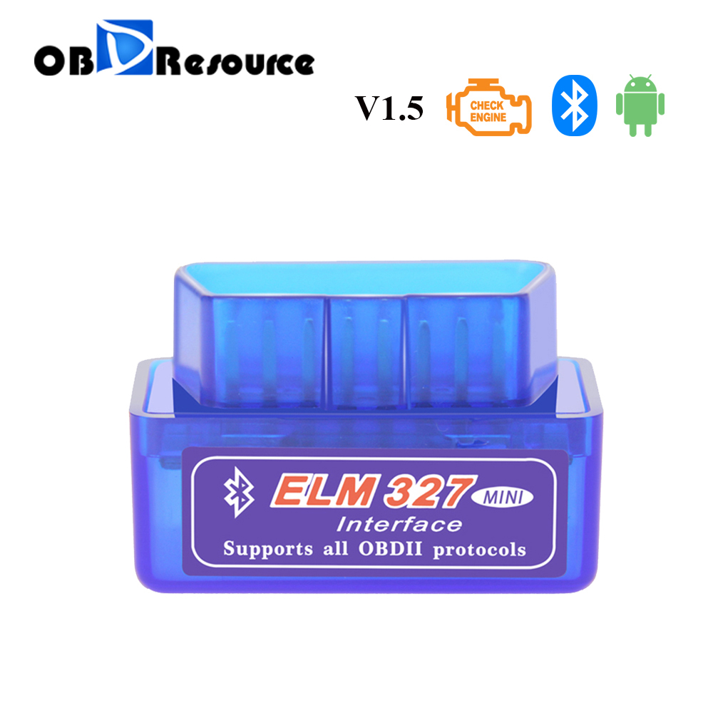 ELM327 Bluetooth V1 5 OBD2 OBDII Car Diagnostic Tool ELM 327 Torque Automotive Scanner Code Reader For Benz BMW Ford Volvo VAG