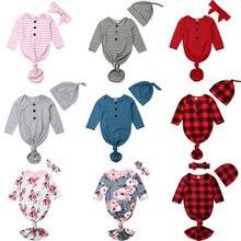 Спальные мешки для новорожденных девочек и мальчиков от 0 до 12 месяцев одеяло облегающее платье комплект одежды из 2 предметов