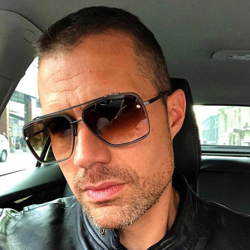 Luxury Brand Design Fashion Classic Mach Six Style Gradient Lens Sunglasses Men Retro Brand Design Sunglasses Oculos 95527