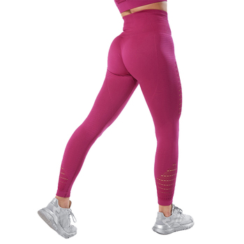 CHRLEISURE Hollow Out Leggings Women Seamless Solid Fitness Casual Pants Push Up Skinny Gym Breathable