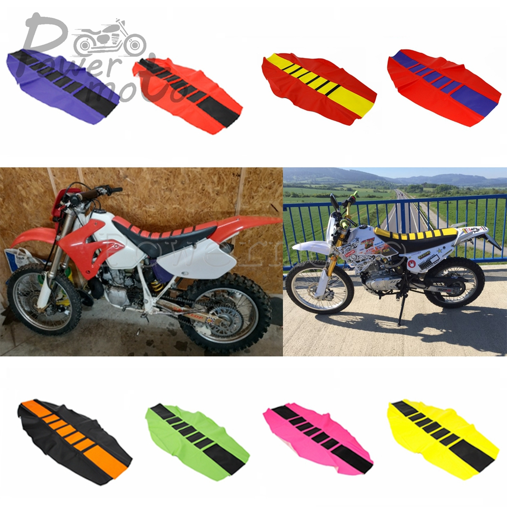 5 Color Universal Rubber Pro Ribbed Gripper Soft Seat Cover For CRF YZF KLX RMZ