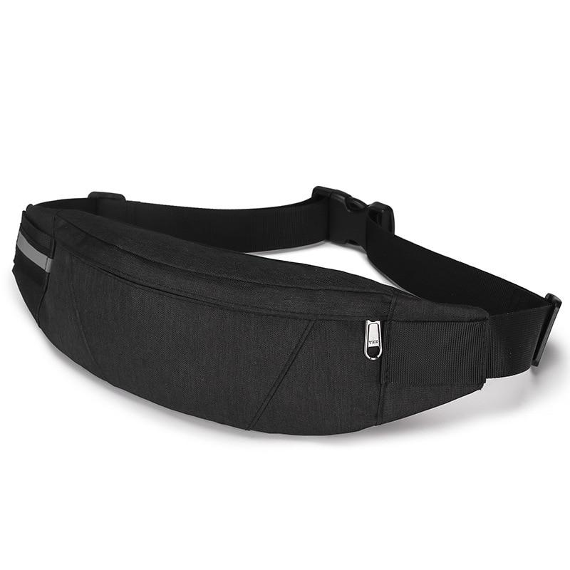 Black Waterproof Money Belt Bag Men's Wallet Teenager Travel Wallet Belt Men's Pockets Cigarette Case Phone