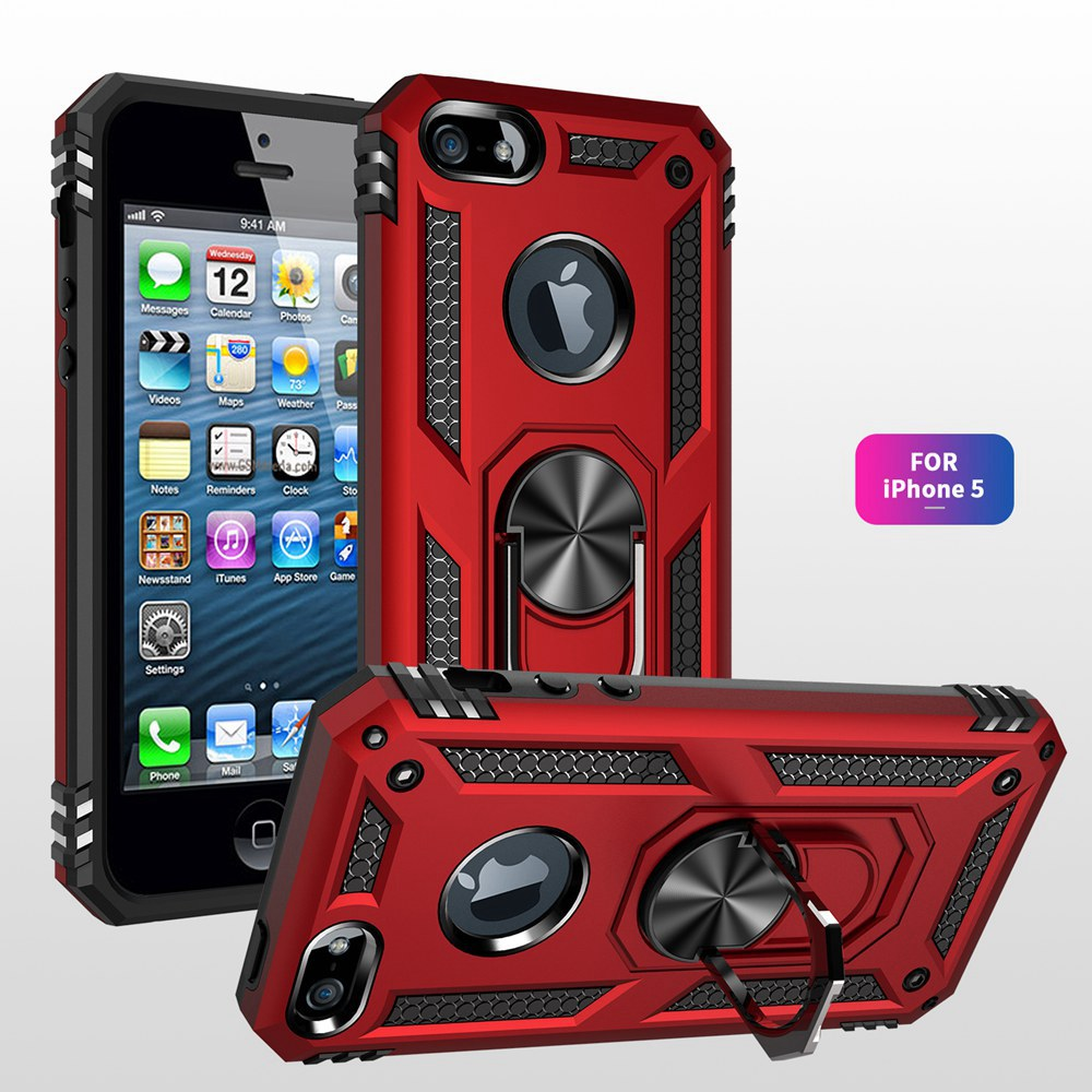 Luxury <font><b>Armor</b></font> Magnet Metal Ring Phone <font><b>Cases</b></font> <font><b>For</b></font> <font><b>iPhone</b></font> 5 5S SE Shockproof Back Cover <font><b>For</b></font> <font><b>iPhone</b></font> iPod Touch 5 6 7 <font><b>Case</b></font> Fundas image