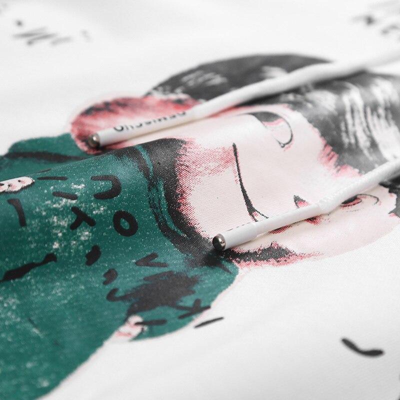 Sweat-shirts de bande dessinée hommes à manches longues col rond slim fit hoodies à capuche japonais élégant couple blanc automne survêtement vêtements - 4
