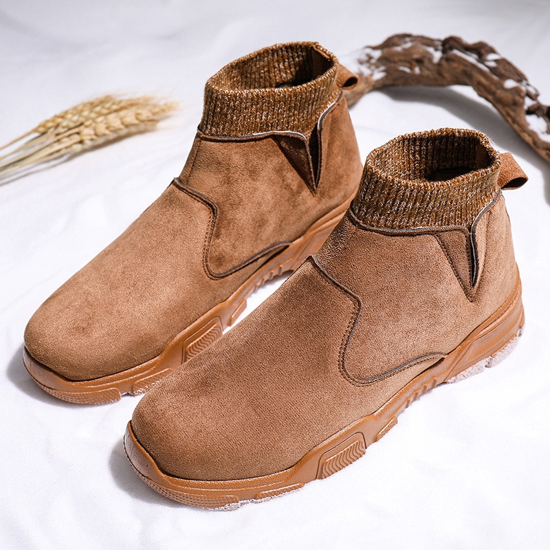 New 2019 Autumn Early Winter Shoes Men Suede Boots Fashion Brand Casual Man Leather Chelsea Boots Men Ankle Boots A1853