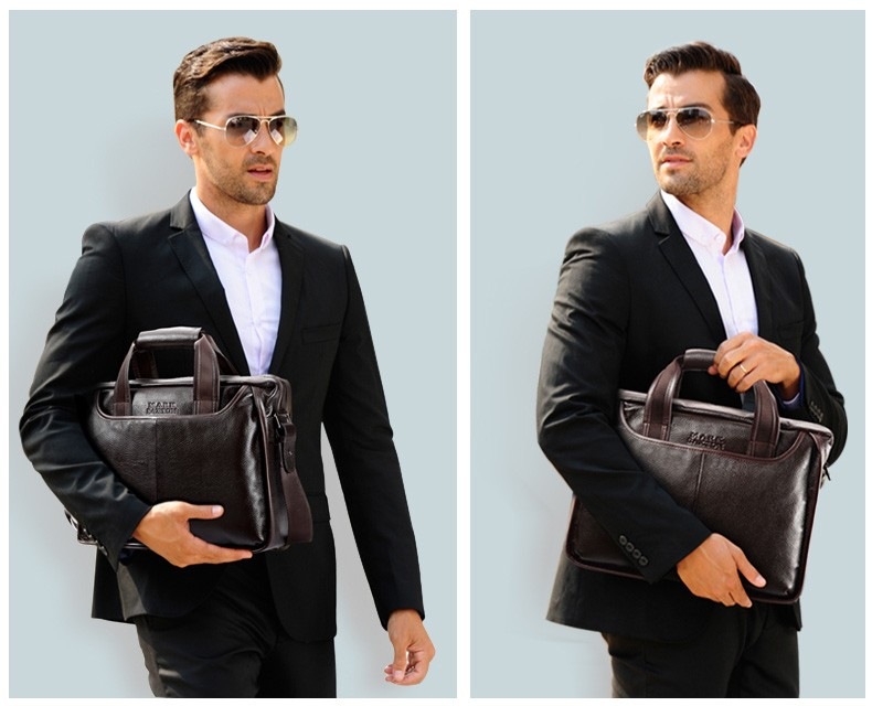 Hdb81eb974666436b9797b4d3155b36deS 2019 New Fashion cowhide male commercial briefcase /Real Leather vintage men's messenger bag/casual Natural Cowskin Business bag