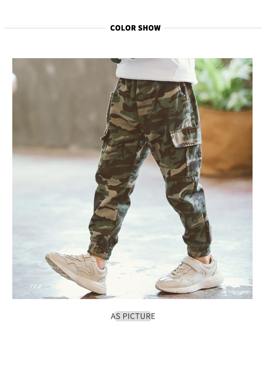 Boys Pants Camouflage Pants For Boys Amy Trousers For Boy 2020 Spring Casual Kids Boy Sweatpant 6 8 10 12 14 Year